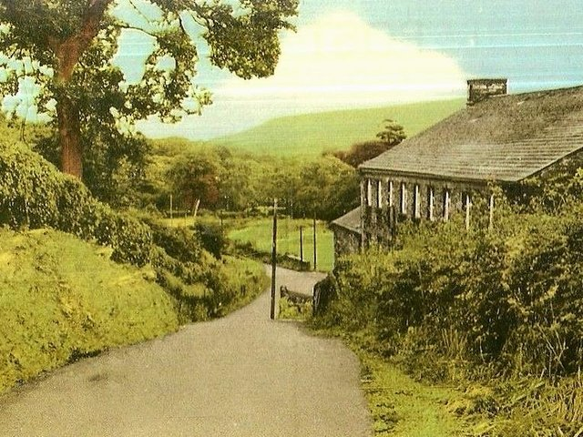 Vintage postcard of the country lanes around Chipping