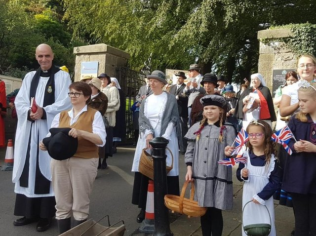 Local residents turned the clock back and took part in the festivities last year
