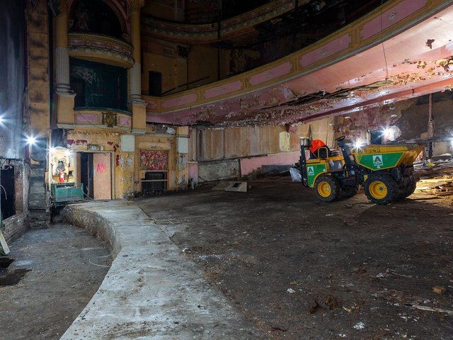 Work beings inside the former Burnley Empire