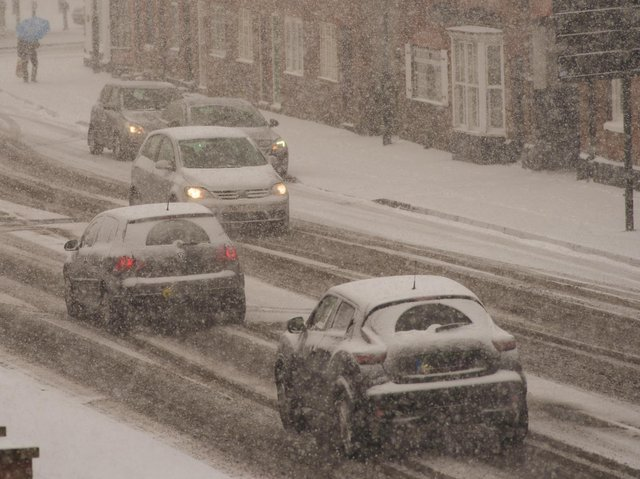 Snow accumulations of 2-5cm are likely, with as much as 10-15cm possible in areas where snowfall is prolonged.
