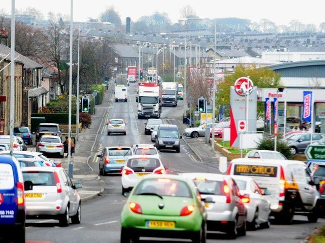 Congestion on North Valley Road, Colne