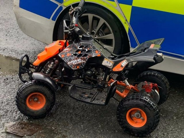 The vehicle seized by police