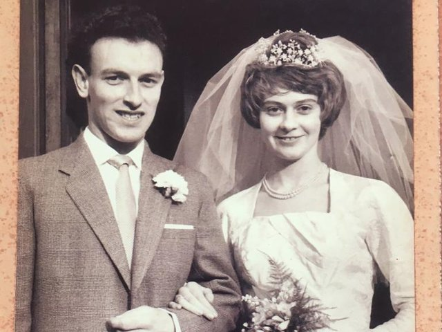 Trevor and Eileen on their wedding day in 1961