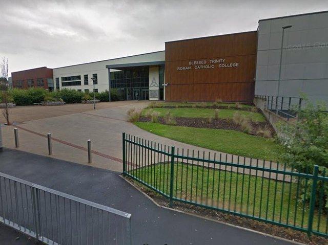 Blessed Trinity Roman Catholic College is one of the schools in Burnley increasing its pupil intake for one year only (image:  Google)