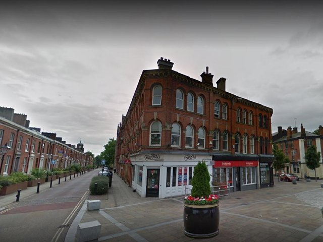 Police raided a poker game at a business premises above Roberto's Bar in Richmond Terrace, Blackburn at 7pm on Saturday (March 6). Pic: Google