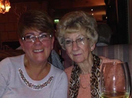 Janet Crowther Hindley with her mum Dorothy Crowther.