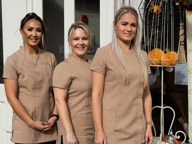 Ready for business at their newly launched T and L Beauty Academy are (from left to right) Tierney Hanson, Leanne Phillipson and Lauren Thornley who is the salon lash expert who hopes to teach at the academy in the future