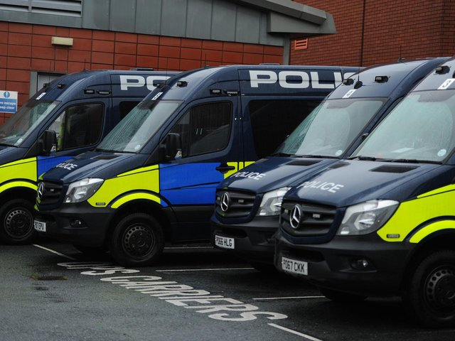 A male has been taken in for questioning after a large amount of drugs were seized in the Healeywood area of Burnley this afternoon.
