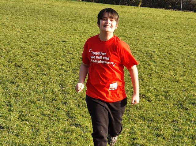 Thomas Wilson is running to raise cash for homeless charity Crisis