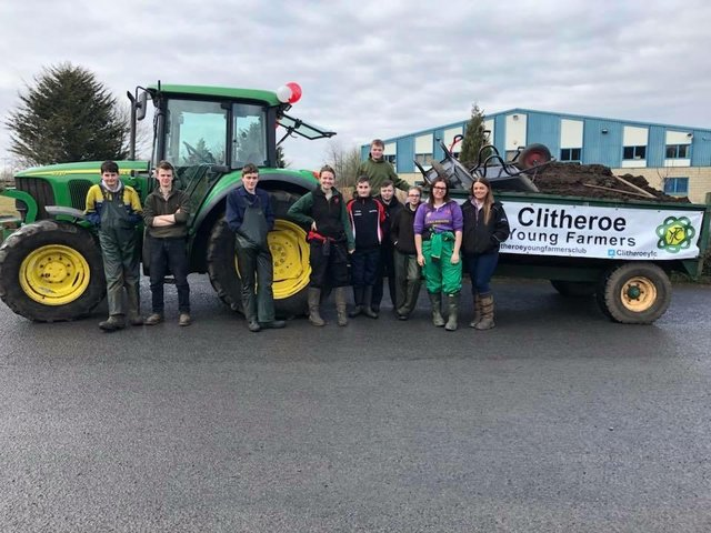 Clitheroe Young Farmers ready for a hard day's graft all for a good cause