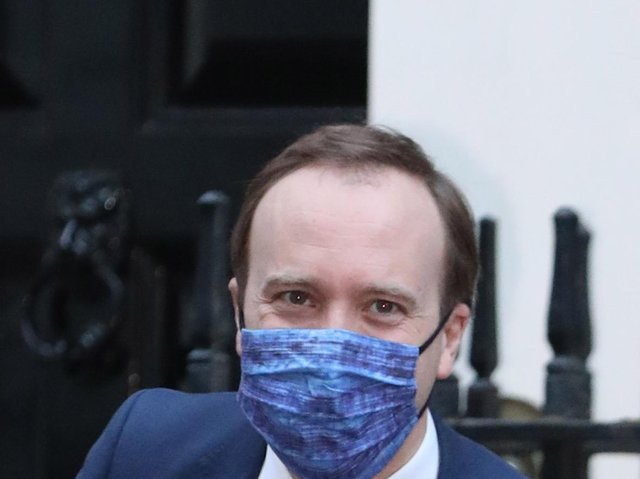 Health Secretary Matt Hancock leaving Downing Street, London, after giving a media briefing on coronavirus (Covid-19). Picture date: Wednesday March 17, 2021.  Picture: PA Wire/PA Images/Luciana Guerra