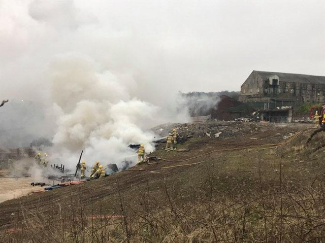 The scene of the huge blaze earlier today. Photo credit Ian Moore