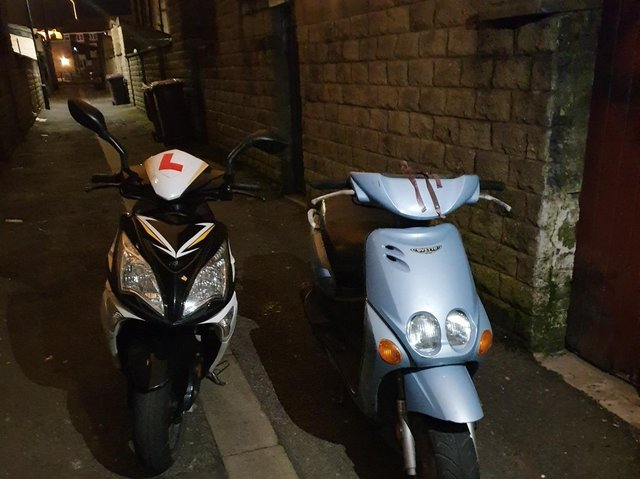 The e-scooters seized by the officers