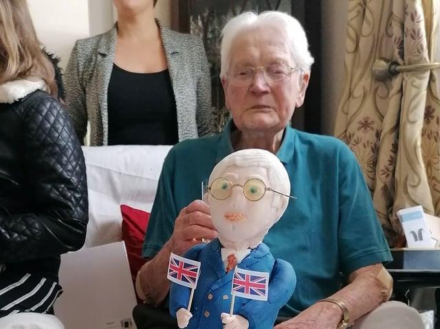Thomas Edmondson celebrating his 100th birthday