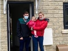 Ryan ands Kirby with their daughter Ivy-Mai were among the first residents to move into May Tree Close in Burnley, the latest affordable housing development built by Calico Homes
