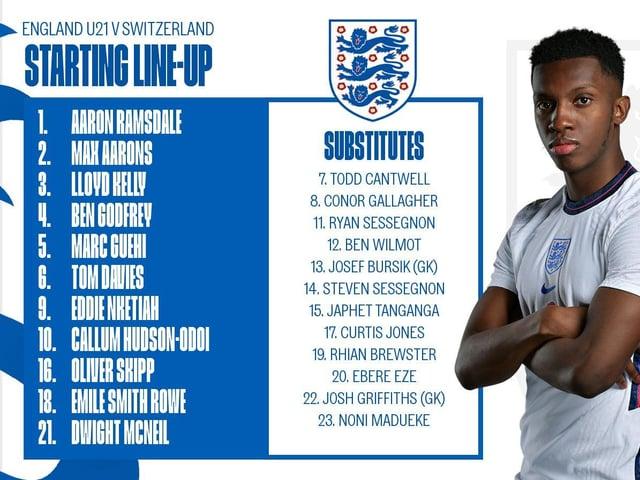 The team sheet