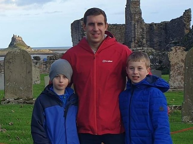 His twin sons , Luke and Liam, are the inspiration for the two books author Andrew Slinger has written
