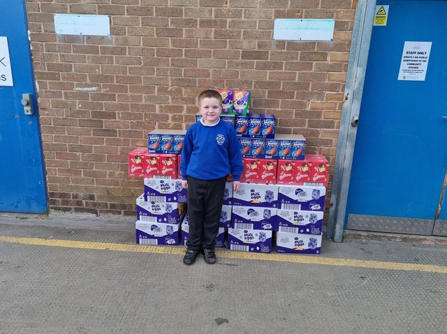 What a cracking great gesture from seven-year-old Alfie Smith who bought 200 Easter eggs for the Burnley Community Kitchen Easter appeal