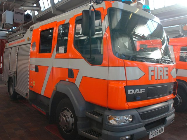 Two fire crews were mobilised