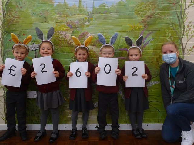 Holy Trinity Primary School in Burnley has raised the most amount of any school, £2,602 to be exact, for Pendeside Hospice.
