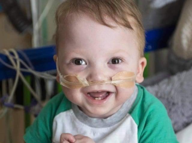 Brave little Theo McDermott is ready to start school in September