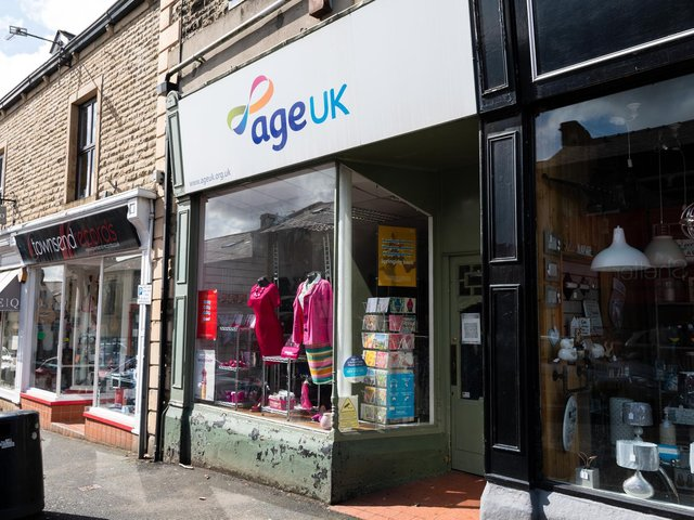 The charity shop in Moor Lane, Clitheroe