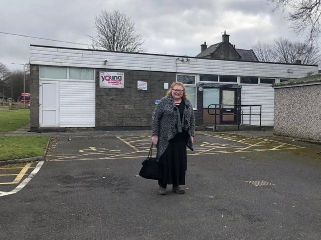 Coun. Sarah Cockburn-Price at the new centre