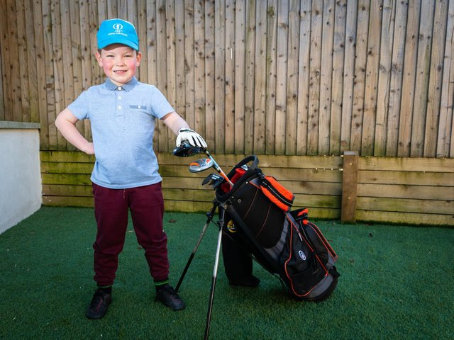 Golfing protege Ritchie Riley is taking the sport by storm with his talent at just five-years-old.