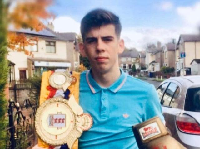 Burnley bantamweight boxer Barney Stokes