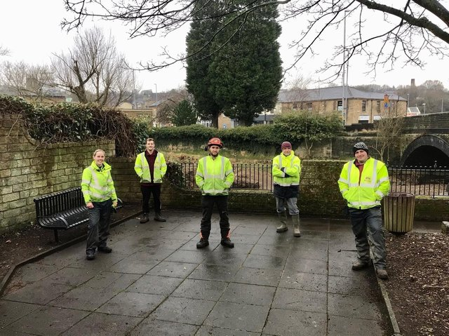 The Greenspaces team deserve a pat on the back for the hard work they have put intom sprucing up the waterside seating area in Padiham's Green Lane.