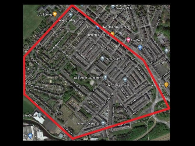 The dispersal order covered the Woodbine Road area of Burnley