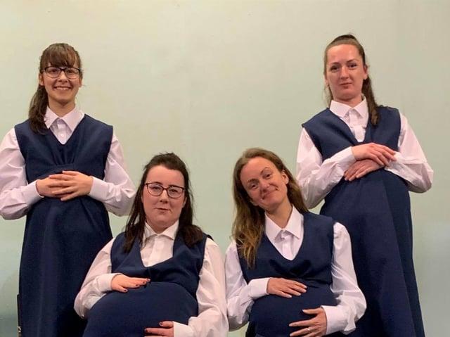 Alexandra Kennedy (Dolores), Rachel Grace (Norma), Holly Boland (Mary) and Rheanna Thomas (Queenie).
