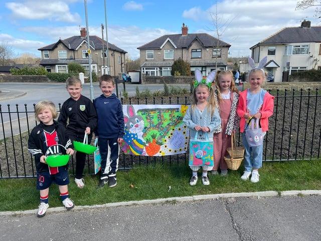 Children on the Valour Park estate in Burnley enjoyed an Easter egg hunt