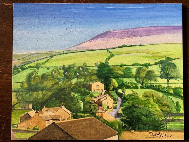One of the scenic greeting cards by Caroline Assheton in her fundraising efforts to boost funds for the hall