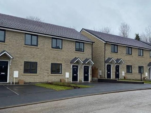 The homes in Station Road, Padiham.