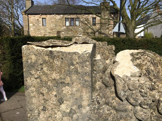 Damage to the sculpture 'A Celebration of Community' in the Ribchester Millennium Garden
