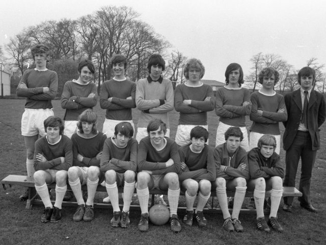 Walton-le-Dale County Secondary School's Under 16 football team have swept aside all before them over the present season, being undefeated in league and cup matches. Members of the side are (seated left to right): D Colton, R Parkinson, P Kay, S Thomas, J Kaylow, A Nixon, D Waterworth. Standing (left to right): K Parkinson, D Marginson, K McKenna, J Baron, R Dickinson, P MacFarlane, T Wilmer, and Mr M Nolan (coach)