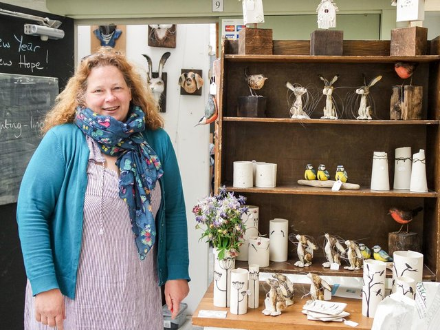 Julie Miles, of Julie Miles Ceramics, Nelson. Julie  is one of the artists, artisans and crafters taking part in an online spring fair in April 2021, organised by Hopeful and Glorious