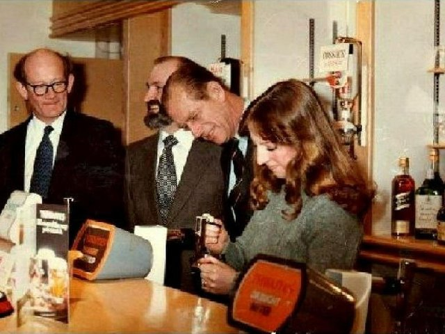 Back in 1979, Preston received a Royal Visit. In the above photo, Teresa Wilson is seen serving H.R.H. Prince Phillip a pint at the rehabilitation facility, Dovedale Avenue, Ingol