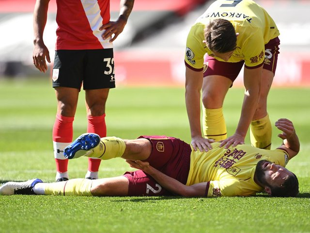 Erik Pieters was forced off at Southampton