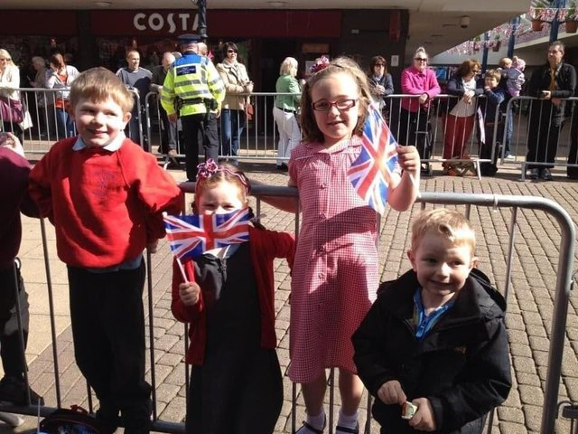 A day to remember, when Prince Philip visited Burnley in 2012, for  (left to right) Charlie Martin ( six) Libby Norwood ( six) Grace Astin (seven) and Oscar Martin (four)