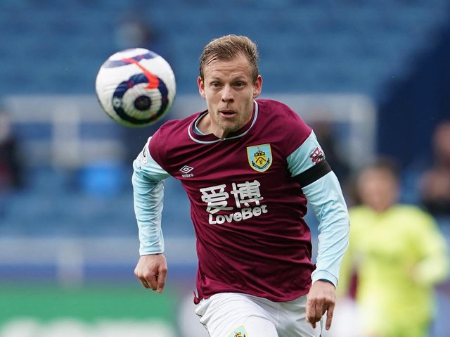 Burnley's Czech striker Matej Vydra runs for the ball during the English Premier League football match between Burnley and Newcastle United at Turf Moor in Burnley, north west England on April 11, 2021.