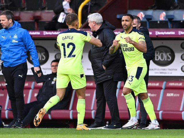 Callum Wilson comes on for Dwight Gayle for Newcastle