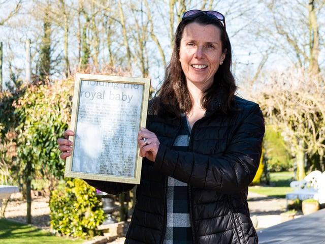 Vet Angela Spar pictured with the framed cutting   Photo: Kelvin Stuttard