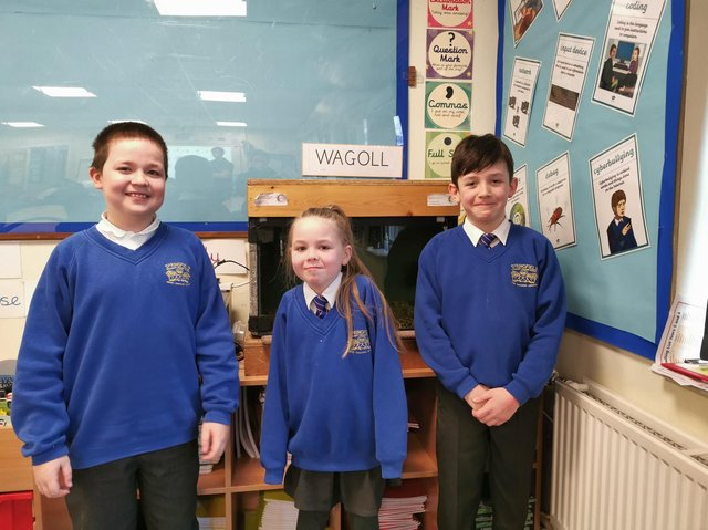 """Pupils from Springfield Community Primary School in Burnley who have been participating in """"Trout In The Classroom"""""""