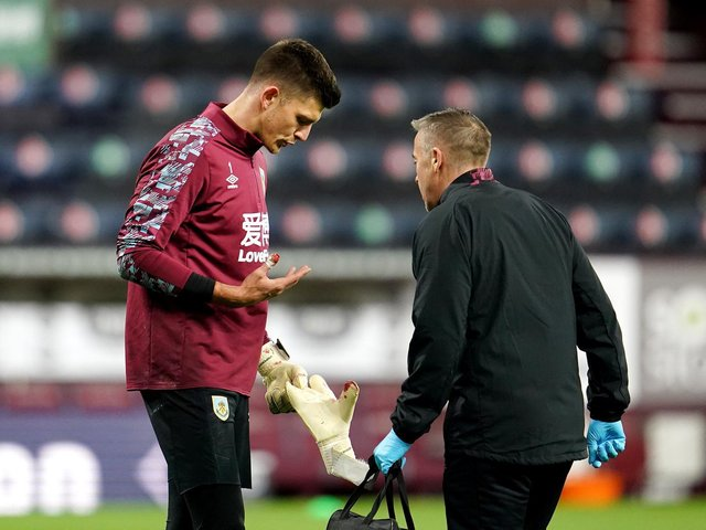 Nick Pope receives treatment