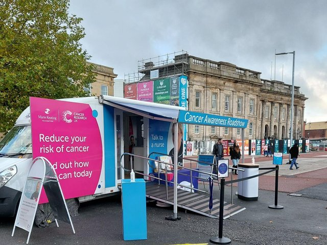 The Cancer Research UK roadshow will be in Burnley on Wednesday, April 28th.