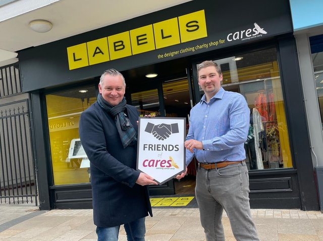 CARES representative Anthony Fairclough with Laurence O'Connor, from Financial Affairs.