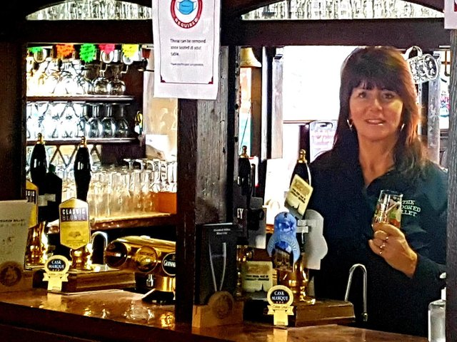 Alison Leigh, who runs the Crooked Billet in Worsthorne