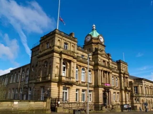 Burnley Town Hall has been undergoing extensive repairs